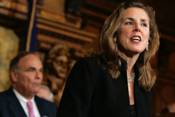 """Kathleen McGinty knows the """"revolving door"""" between industry and government in Pennsylvania as well as anyone. Between working in the administration of two democratic governors, McGInty served on the boards of two energy companies and was managing director of a consulting firm that is part of the Marcellus Shale Coalition—the drilling industry's top trade group in Pennsylvania. Photo: AP / Carolyn Kaster"""