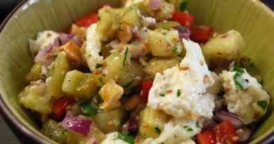 Auberginensalat – Salat mal gedünstet