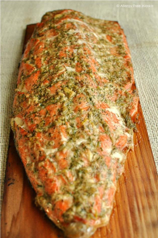 Paleo Cedar Planked Salmon with Dill