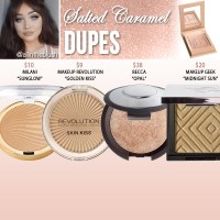 Kylie Cosmetics Salted Caramel Kylighter Dupes