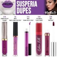 Kat Von D Susperia Everlasting Liquid Lipstick Dupes