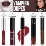 Kat Von D Vampira Everlasting Liquid Lipstick Dupes