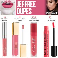 Kat Von D Jeffree Everlasting Liquid Lipstick Dupes