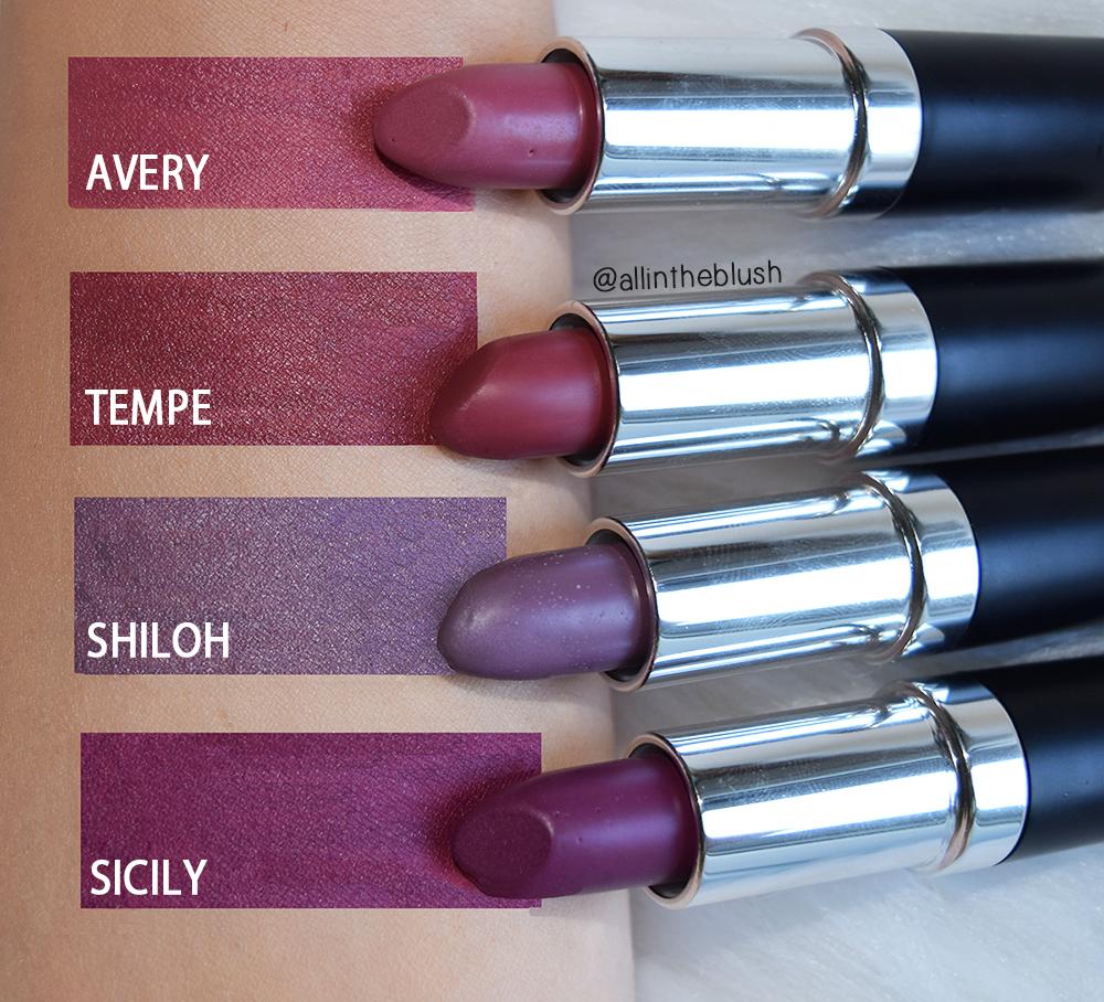 Nicolet Beauty Matte Lipstick Swatches