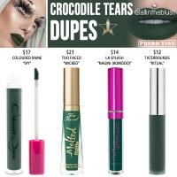 Jeffree Star Crocodile Tears Velour Liquid Lipstick Dupes