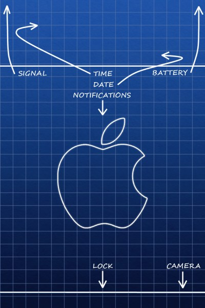 Apple Lock Screen iPhone Wallpaper HD
