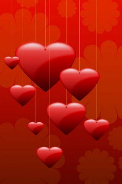 Hearts iPhone Wallpaper HD