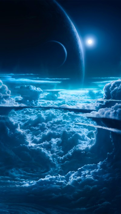 Planets and Cloud iPhone Wallpaper HD