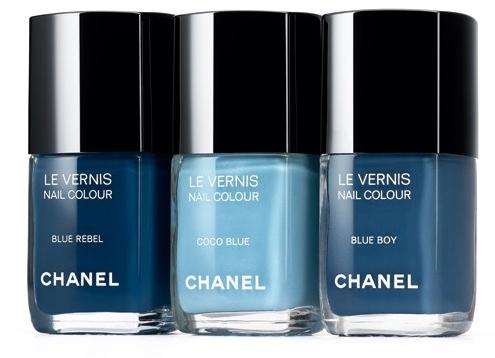 chanel les Jeans de Chanel Coco rebelde azul azul azul menino unha polonês CHANEL Les Jeans de Visualização Chanel