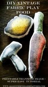 DIY Plush Play Veggies + Printable Transfers