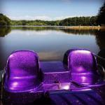 A perfect day for a purple paddle boat summer vacationhellip