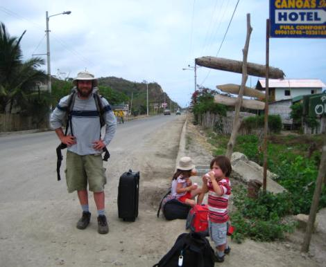 On the road in Ecuador, 2008
