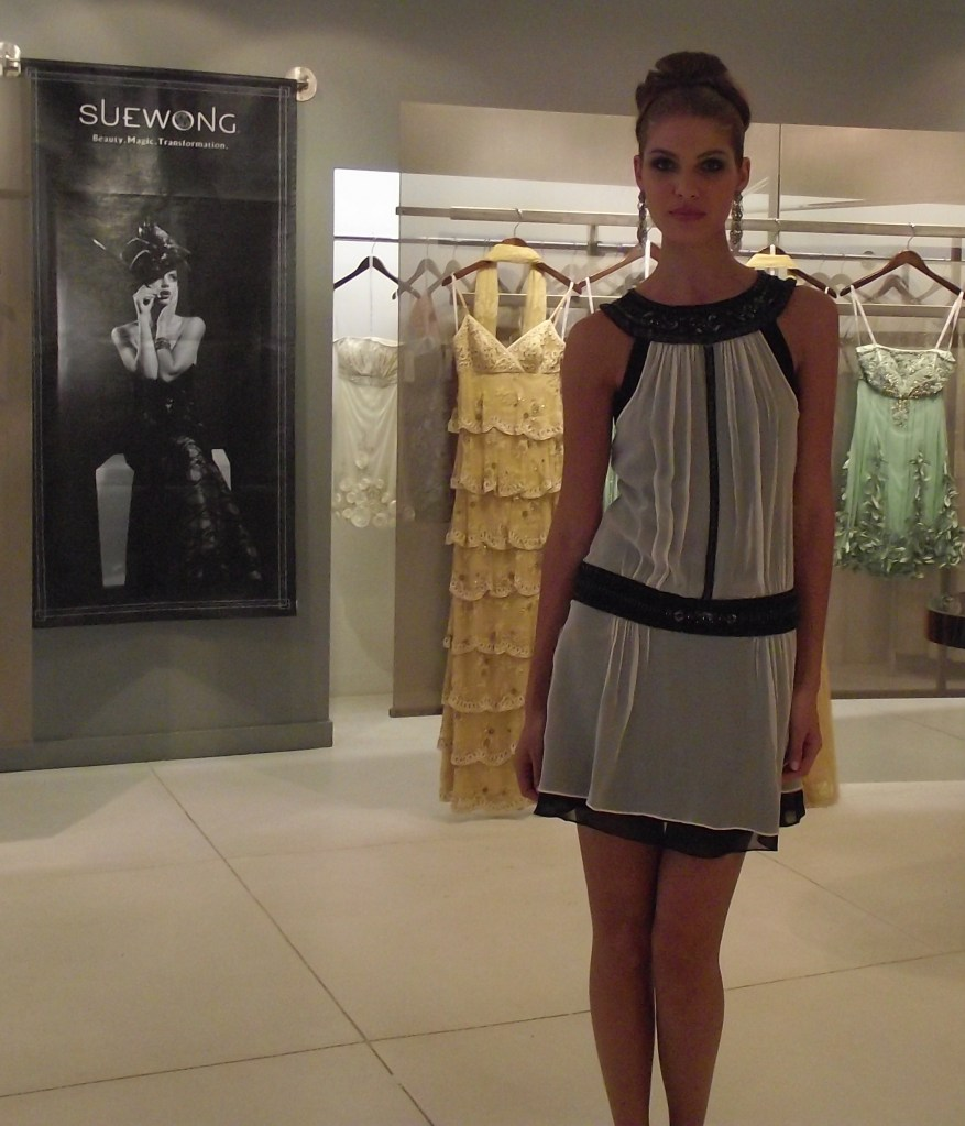 Sue Wong S/S 2011 Black and White Dress