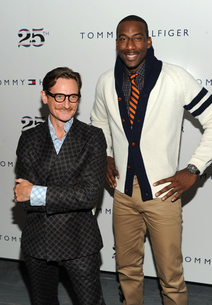Amar'e Stoudemire and Hamish Bowles