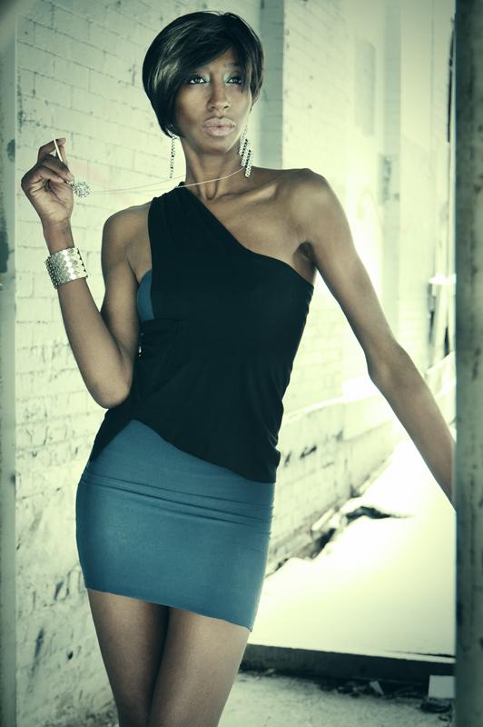 @TheNetworkFam Model Kiyauna Kingsberry in Kimbo Dress and k2o by Karen Ko Jewelry