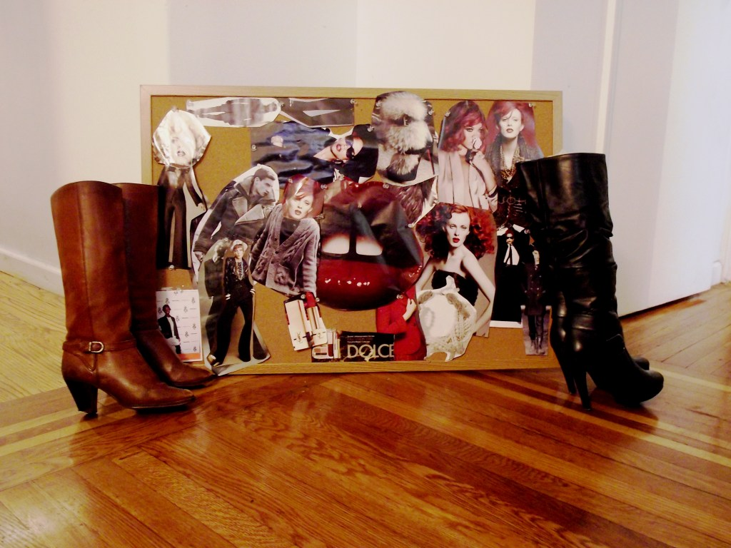 Vintage boots and INC boots from Macy's