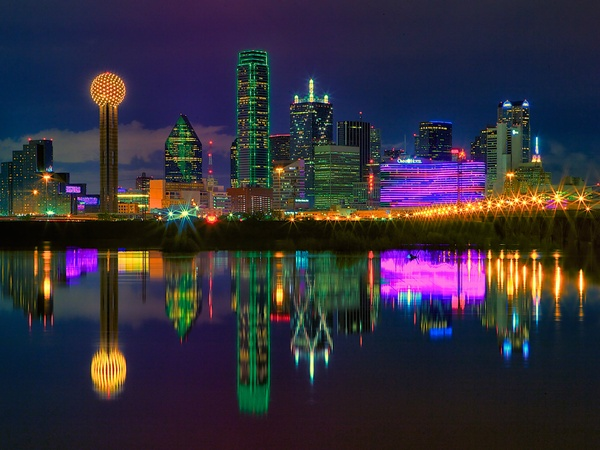 Dallas, TX at night (Image from Google)