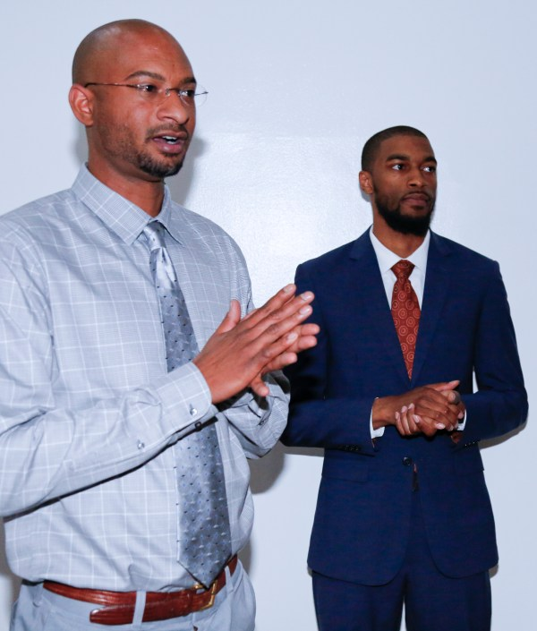 Rumal Rackley (son of Gil Scott-Heron) and Mikal Sabree at Flavor's Night Out (Photo by Katherine Angelique)