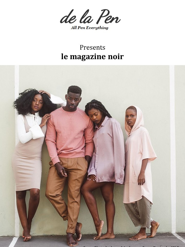 le magazine noir; Cover photo by Jarrod Anderson; Cover Design by ISLP
