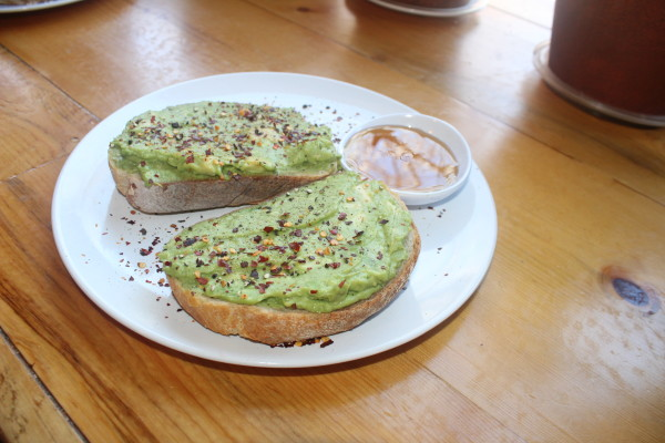Avocado Toast at The Corner Beet (Image by LoudPen)