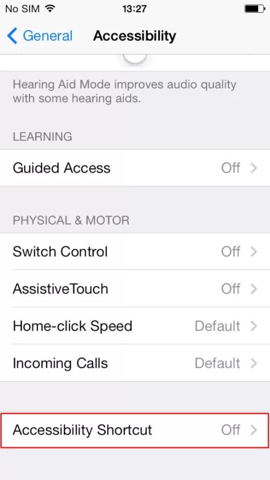 Triple Click-iphone featute
