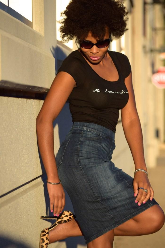 express-high-waisted-denim-skirt