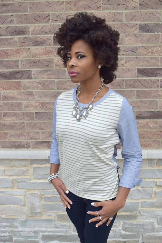 chambray-striped-blouse-statement-necklace