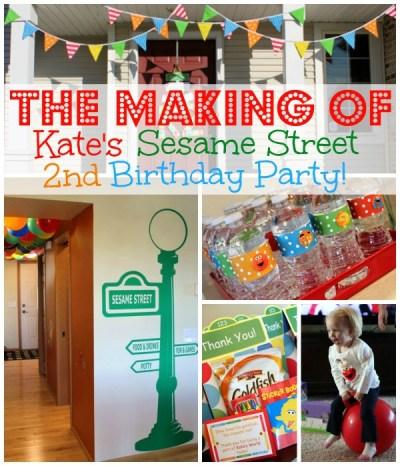 The Making of Kate's Sesame Street Birthday Party | www.allthingsgd.com