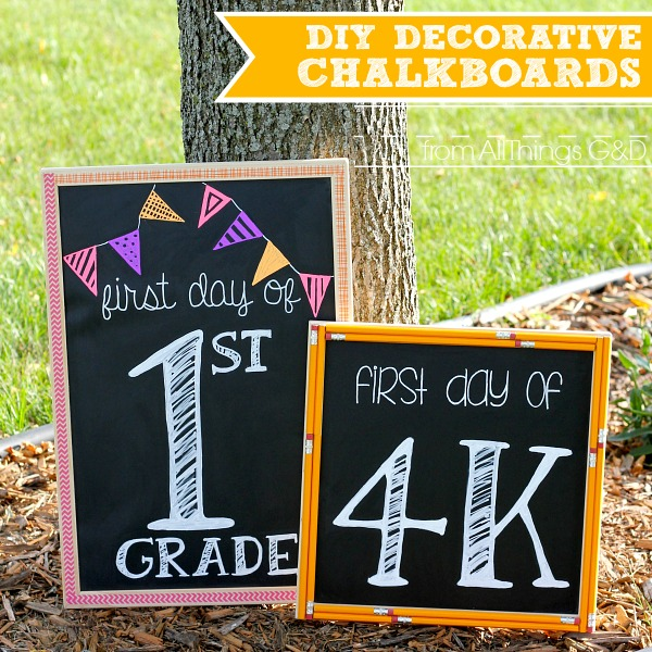 DIY Decorative Chalkboards - easier than your ABCs! | www.allthingsgd.com