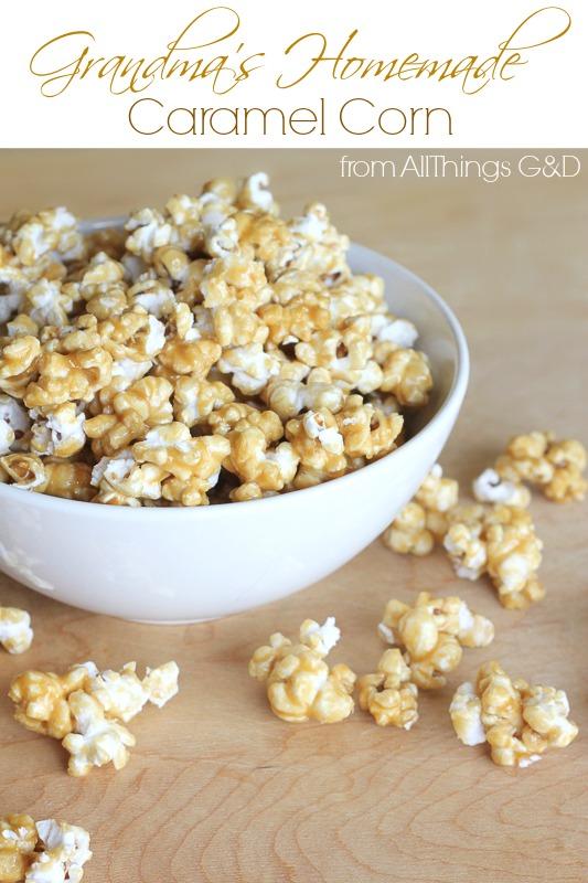 Grandma's Homemade Caramel Corn | www.allthingsgd.com