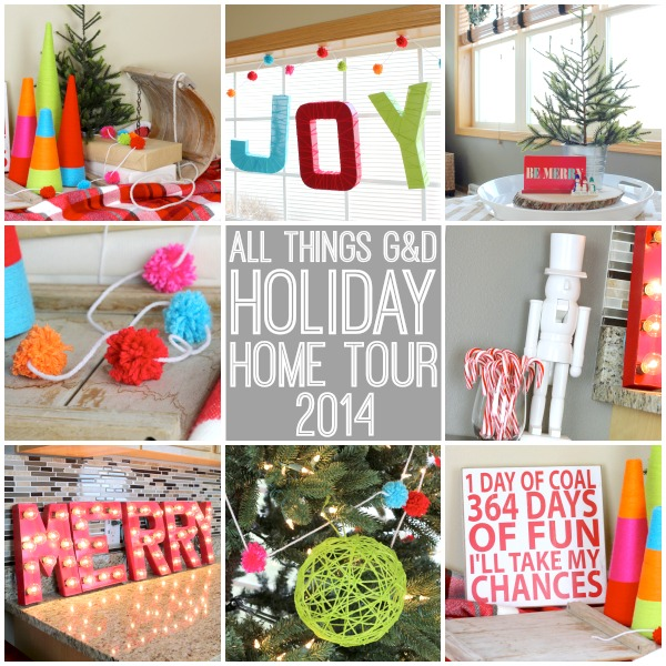 A playful, colorful, handmade holiday home! | www.allthingsgd.com