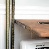 DIY Rustic Folding Shelf
