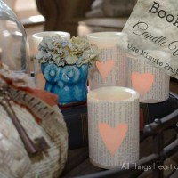 Book Page Candle Wraps!