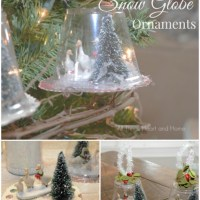 Easy Snow Globe Ornaments