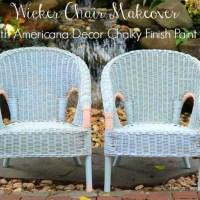 Wicker Chair Makeover!