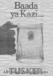 Tusker Beer Newspaper Ad