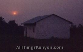 My house & a sunset over Uganda.