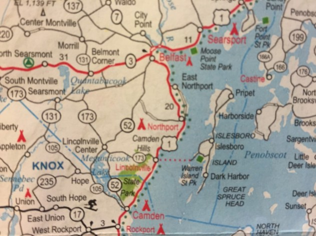 On one of our first road trips we discovered the breathtaking Route 1 up the coast of Maine as a result of a map we picked up from AAA.