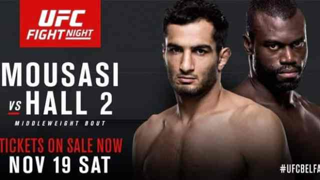 Watch UFC Fight Night 99: Mousasi vs Hall 2 11/19/2016 Full Show Online Free