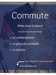 Vocabulary Worksheets: Commute - How to Learn English