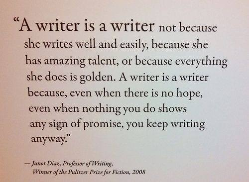 QUOTE A Writer Is... poster