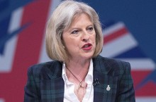 La ministra del Interior de Gran Bretaña, Theresa May