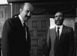 Carlos salinas y Diego Fernández, en pleno apogeo del poder salinista.