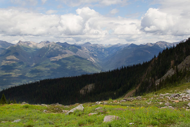 View from Mt. Trudeau, Valemout, BC, Canada