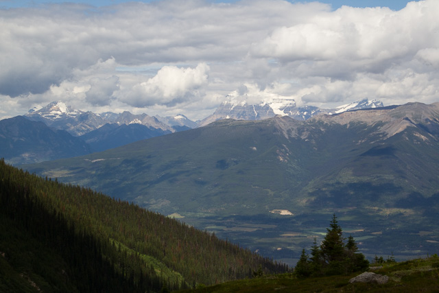 Mt. Robson as seen from Mt. Trudeau, Valemount, BC, Canada
