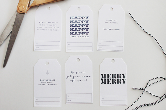 printable holiday gift tags - almost makes perfect