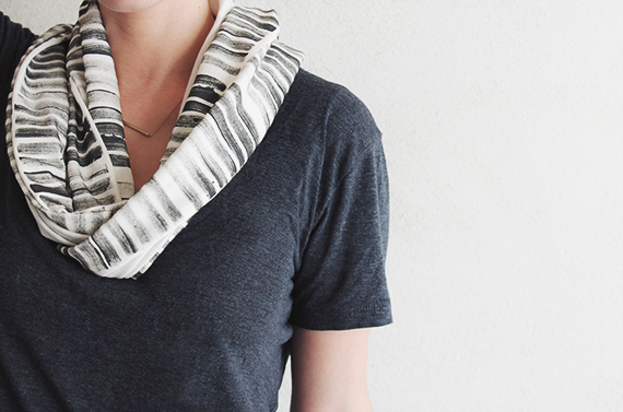diy stamped scarf