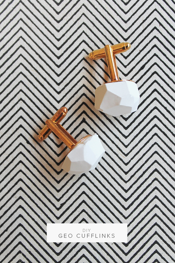 diy geo cufflinks  |  almost makes perfect