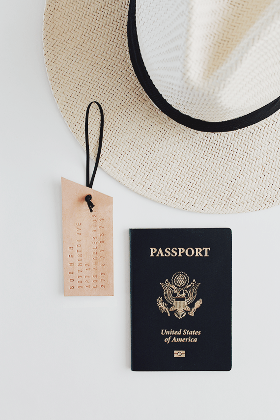 diy leather luggage tag   almost makes perfect