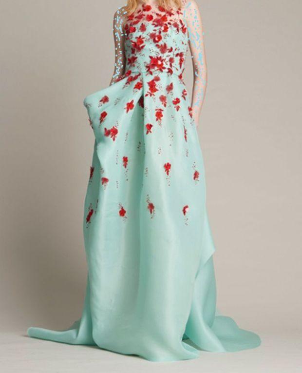 فستان تركواز